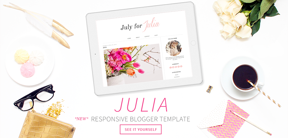 Pink Blog Theme - Premade Blogger Template