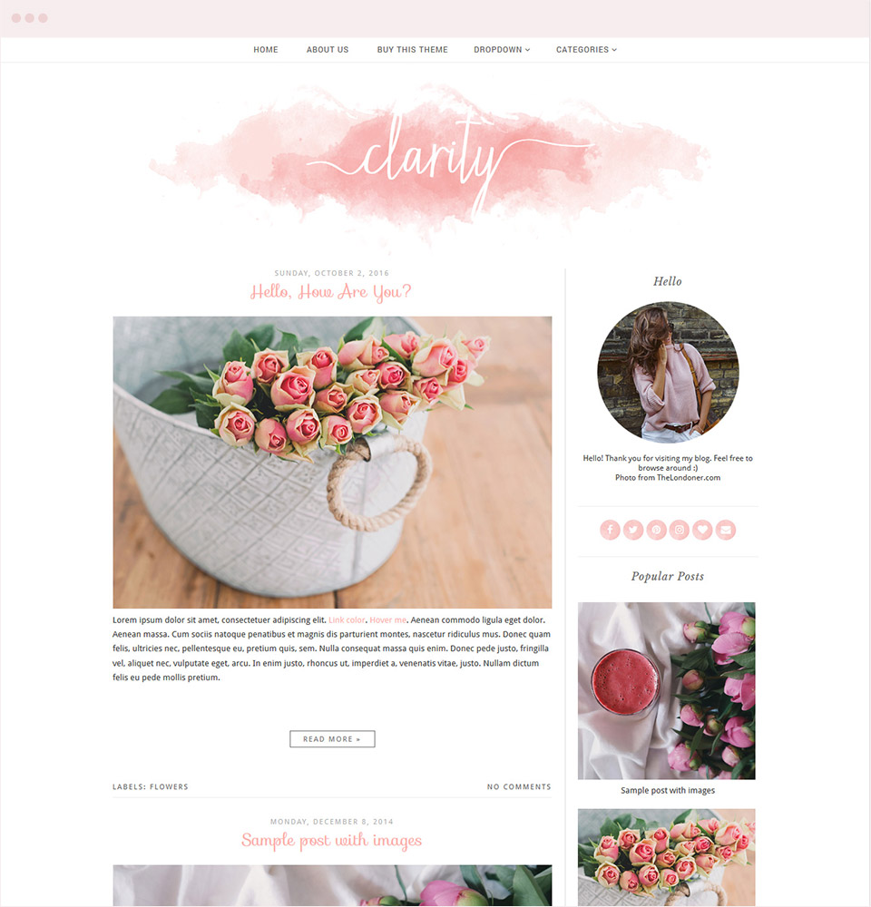 Clarity Blogger Template