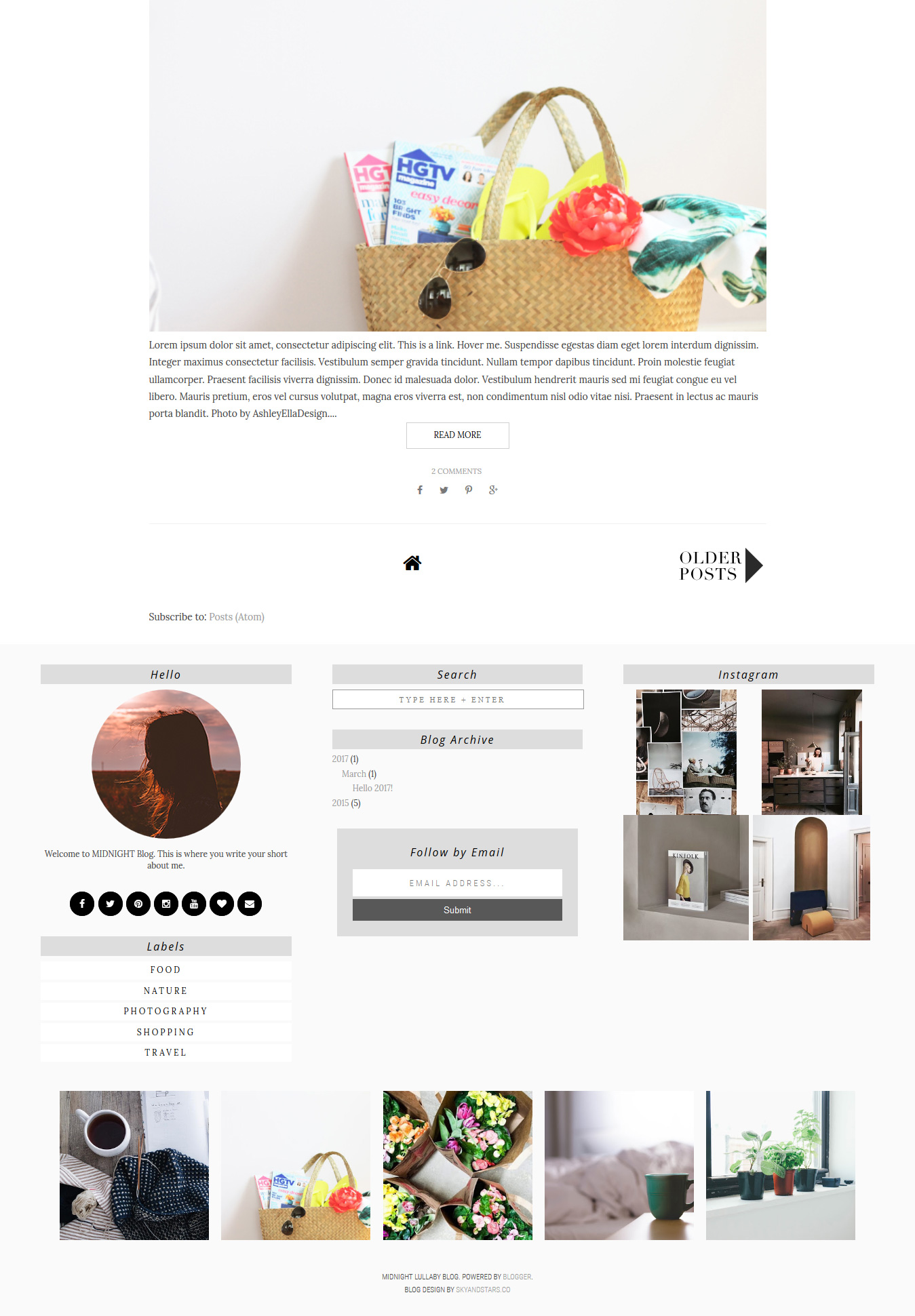 Midnight Blogger Template