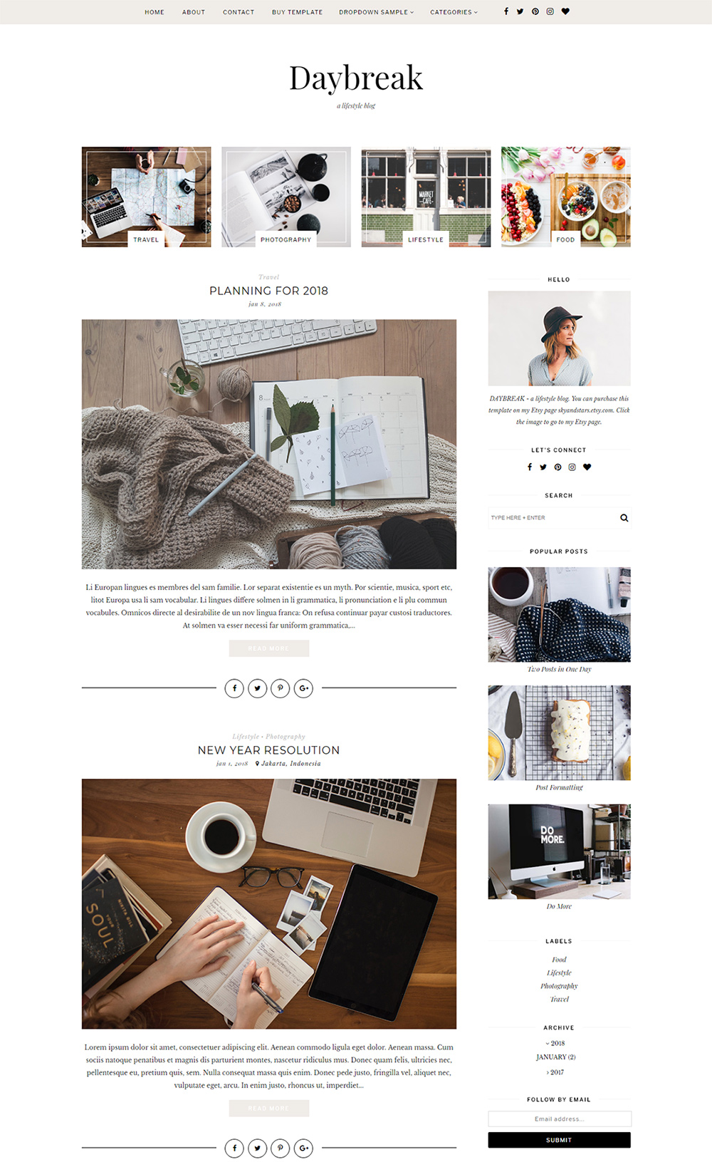 Daybreak Blogger Template