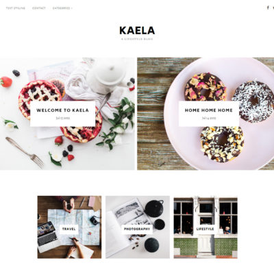 New themes this month : Sunny and Kaela
